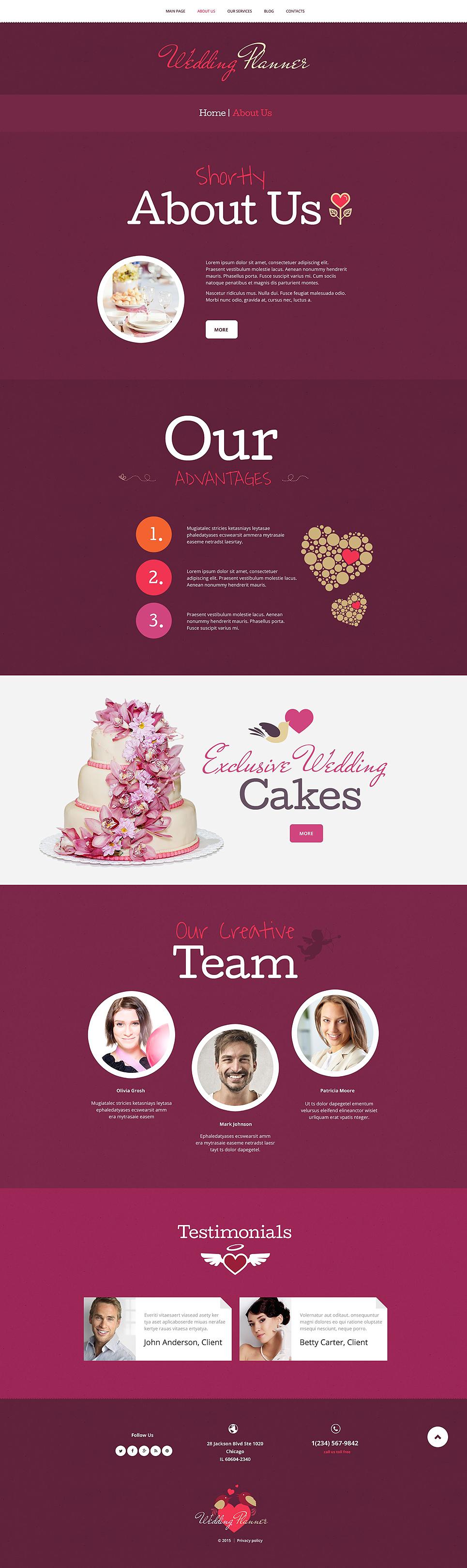 Wedding Planner WordPress Theme WordPress Theme