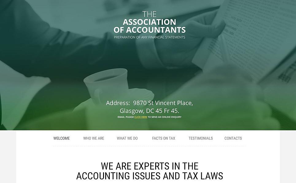 Responzivní Šablona webových stránek na téma Účetní služby New Screenshots BIG