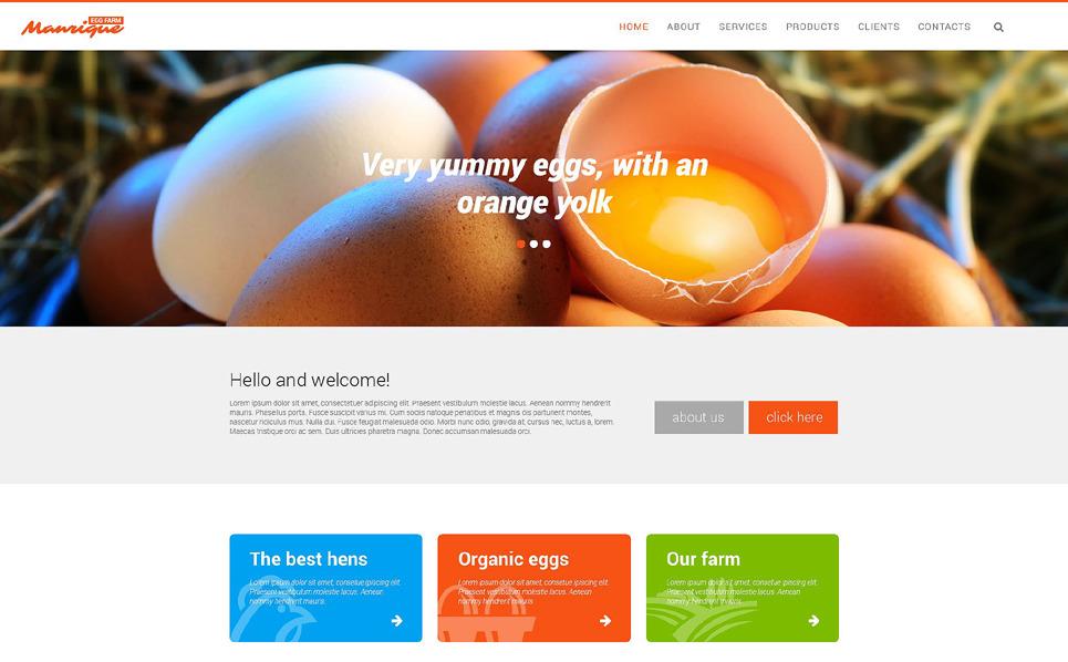 Responsive Website template over Kippenboerderij New Screenshots BIG