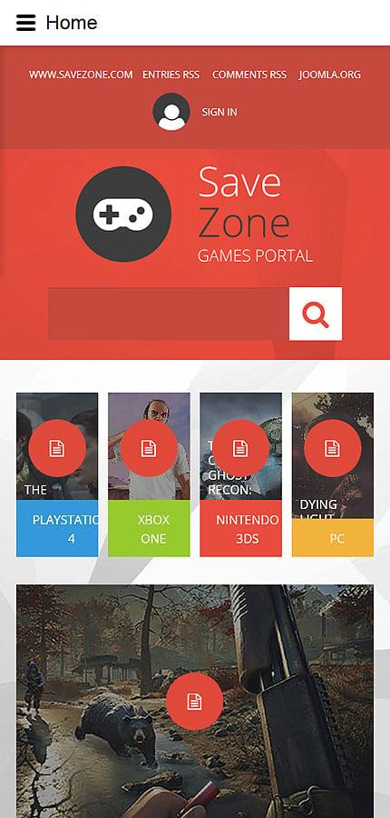 Joomla Theme/Template 55059 Main Page Screenshot