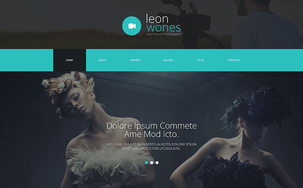 Reszponzív Fényképész portfóliók Joomla sablon New Screenshots BIG