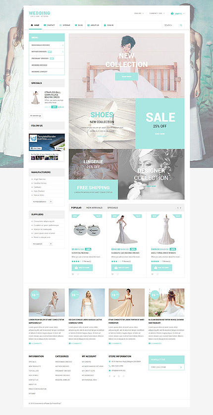 ADOBE Photoshop Template 55061 Home Page Screenshot