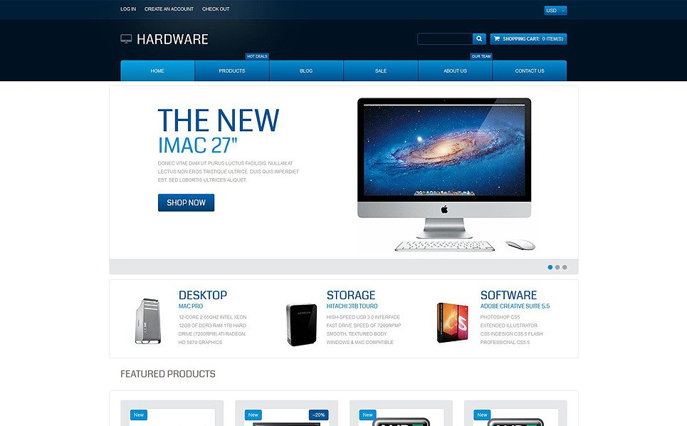 Responsywny szablon Shopify #55072 na temat: sklep komputerowy New Screenshots BIG