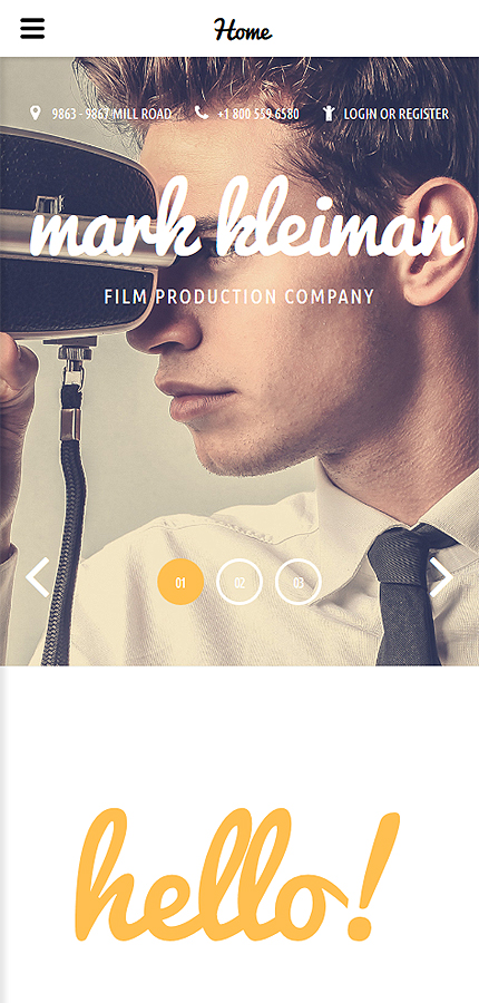 film production company website template website templates. Black Bedroom Furniture Sets. Home Design Ideas