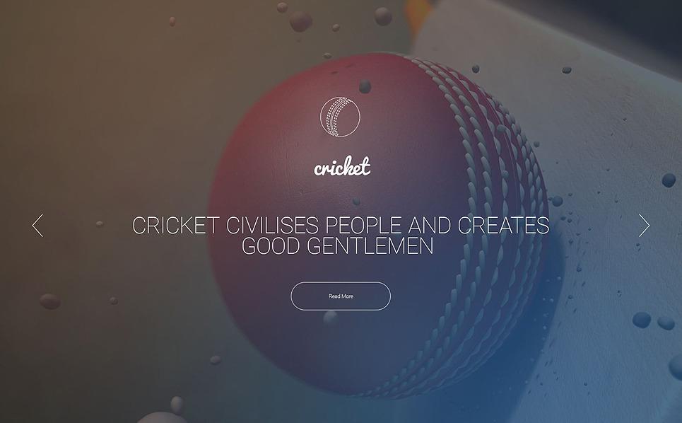 Reszponzív Krikett Weboldal sablon New Screenshots BIG
