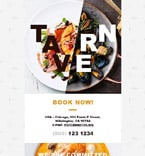 Cafe & Restaurant Newsletter  Template 55080