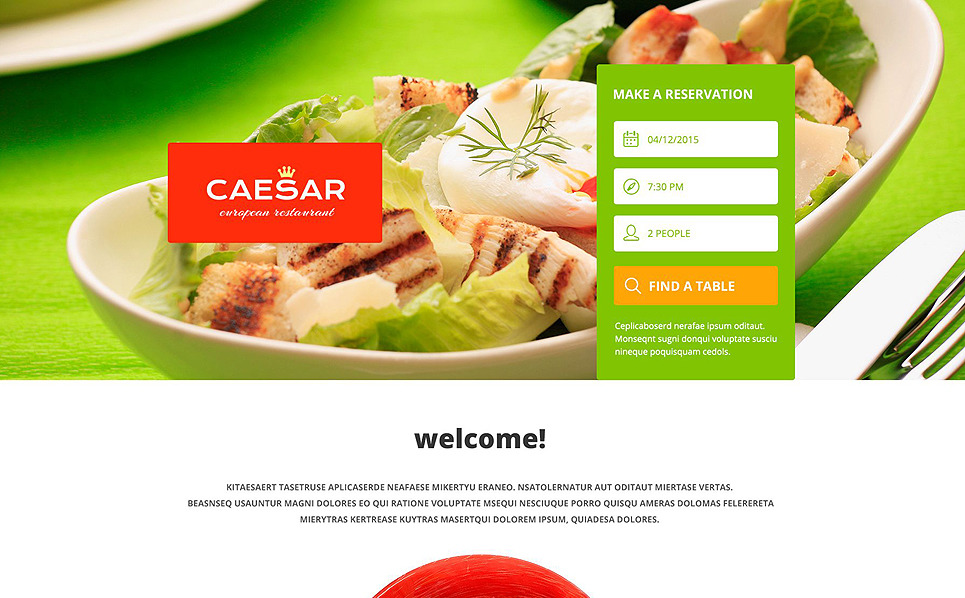 Responsive Landingspagina Template over Café en Restaurant New Screenshots BIG