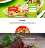 Cafe & Restaurant Landing Page  Template 55091