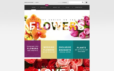 Flowers VirtueMart Template