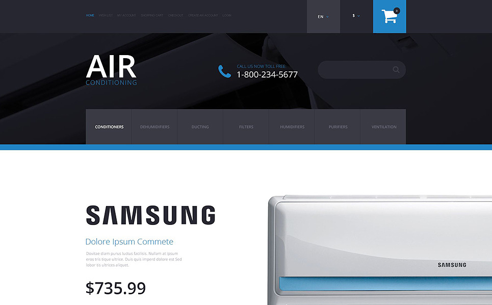 Responsive OpenCart Template over Airconditioning  New Screenshots BIG