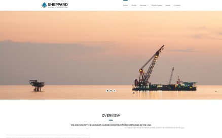 Sheppard - Marine Construction Responsive Classic HTML5 Website Template