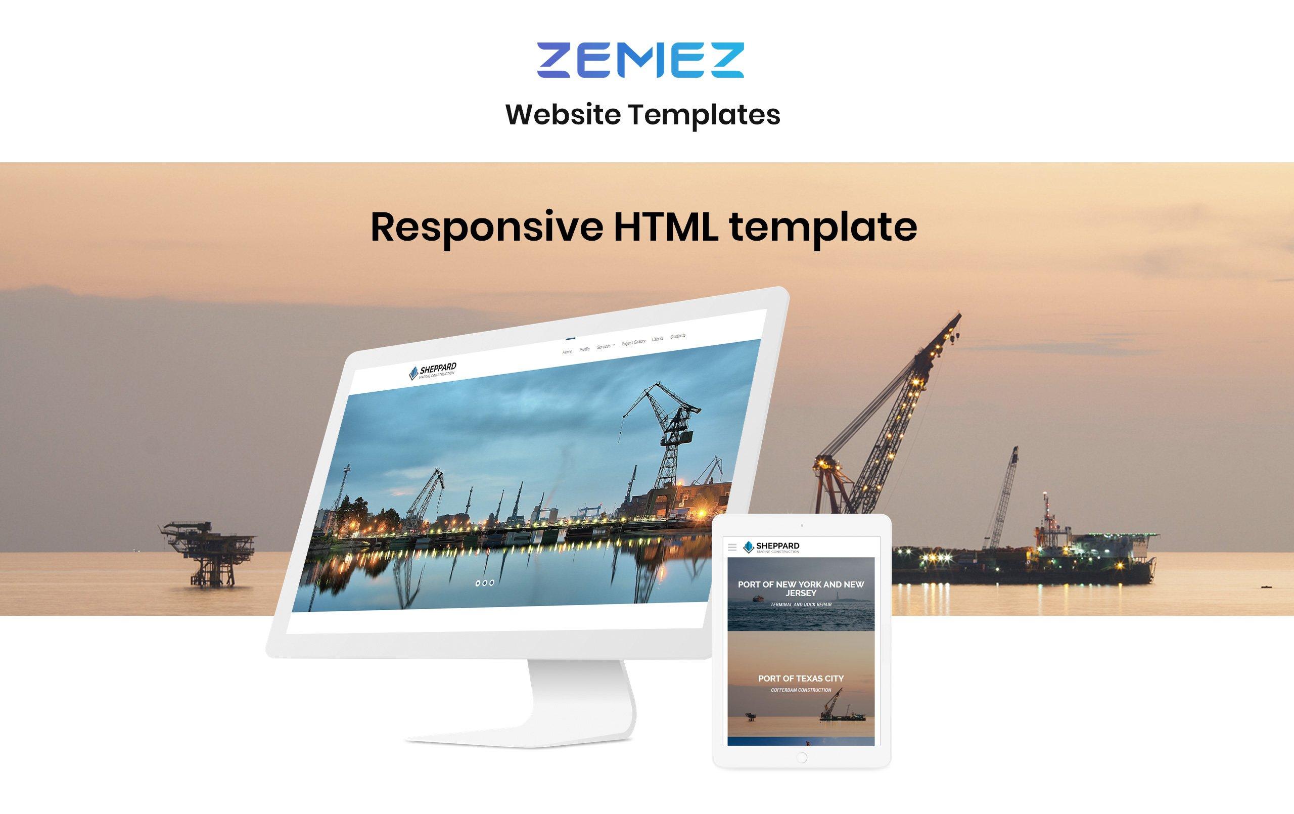 Sheppard - Marine Construction Responsive Classic HTML5