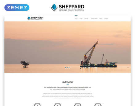 Sheppard - Marine Construction Responsive Classic HTML5 Website Template