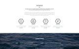"Tema Siti Web Responsive #55098 ""Sheppard - Marine Construction Responsive Classic HTML5"""