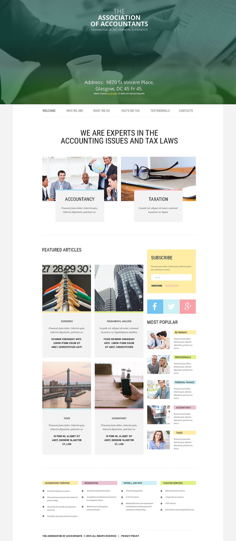 Accountant General Website Template New Screenshots BIG