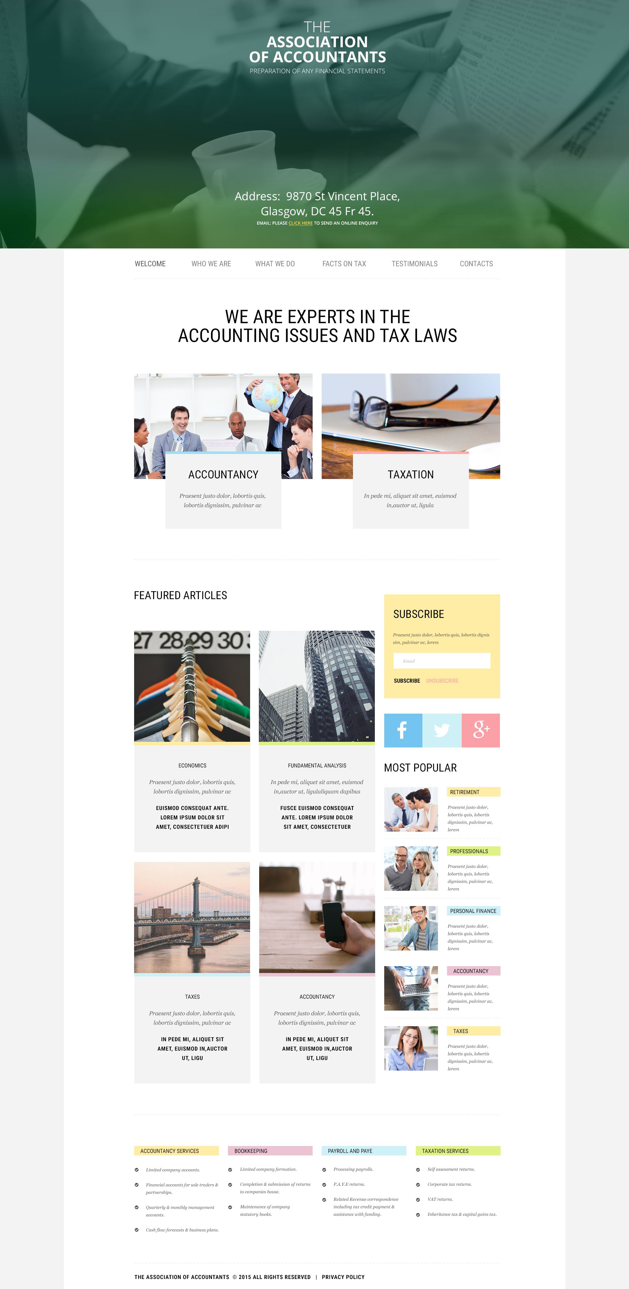 Accounting Website Website Templates