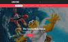 Адаптивний Шаблон сайту на тему кіно New Screenshots BIG