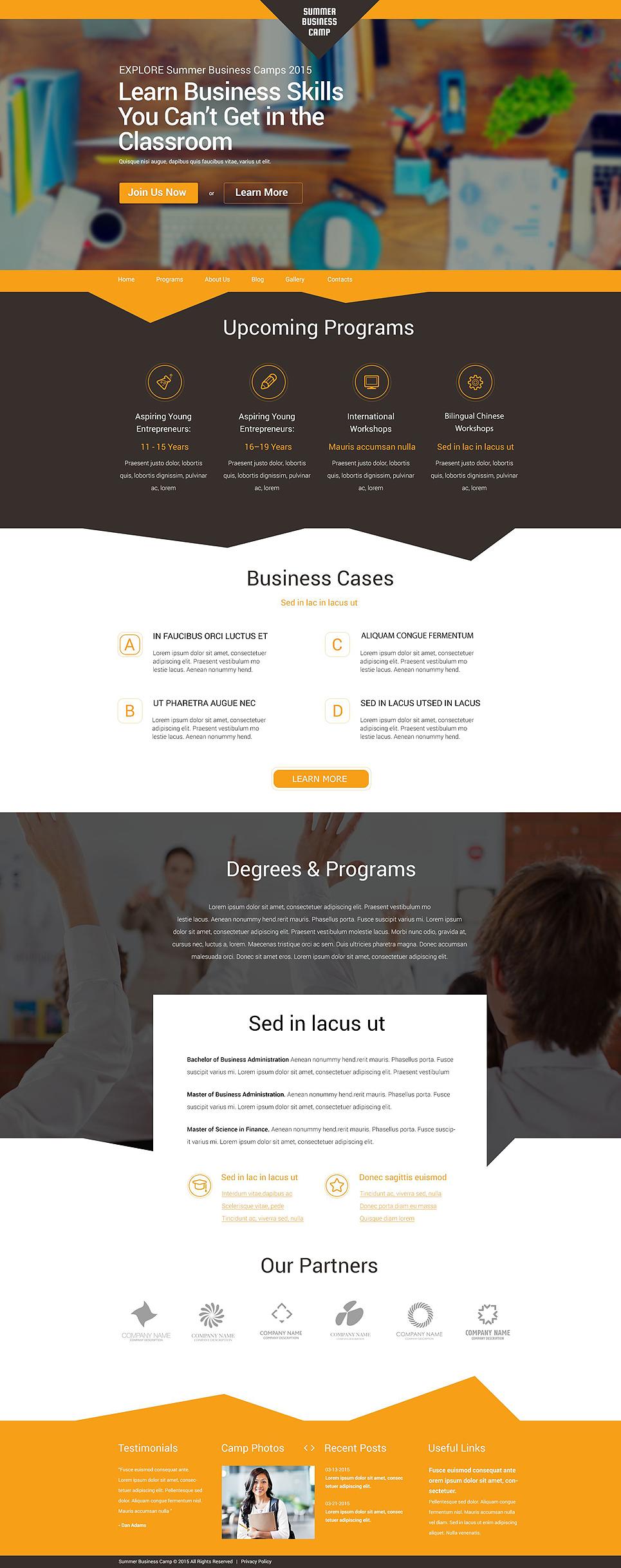 Адаптивный шаблон сайта на тему бизнес и услуги #55027