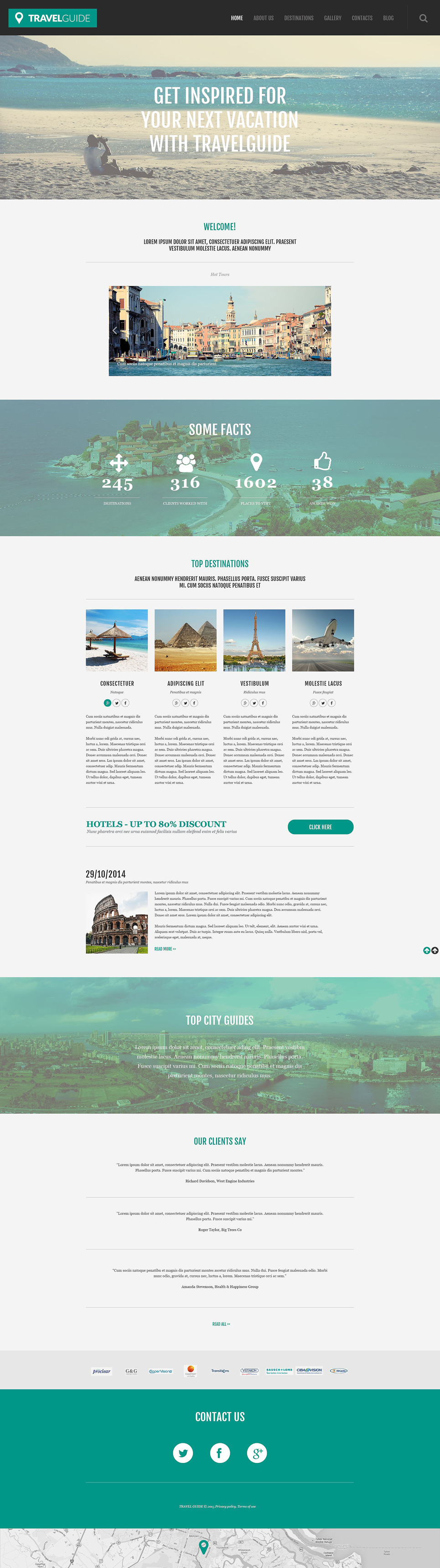 Адаптивный шаблон сайта на тему агентство путешествий #55031