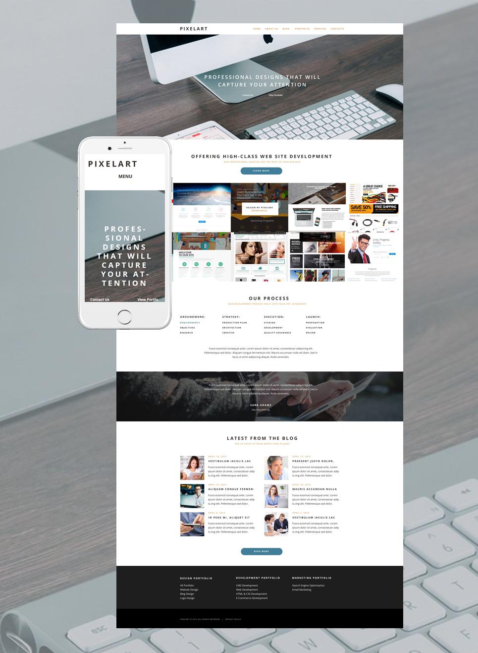 Адаптивный шаблон сайта на тему веб-дизайн #55032