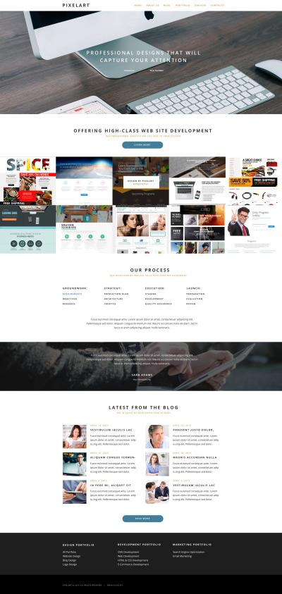 Адаптивный WordPress шаблон №55032 на тему веб-дизайн #55032