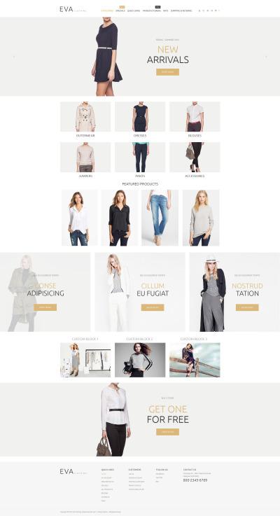 Адаптивный ZenCart шаблон №55063 на тему магазин одежды