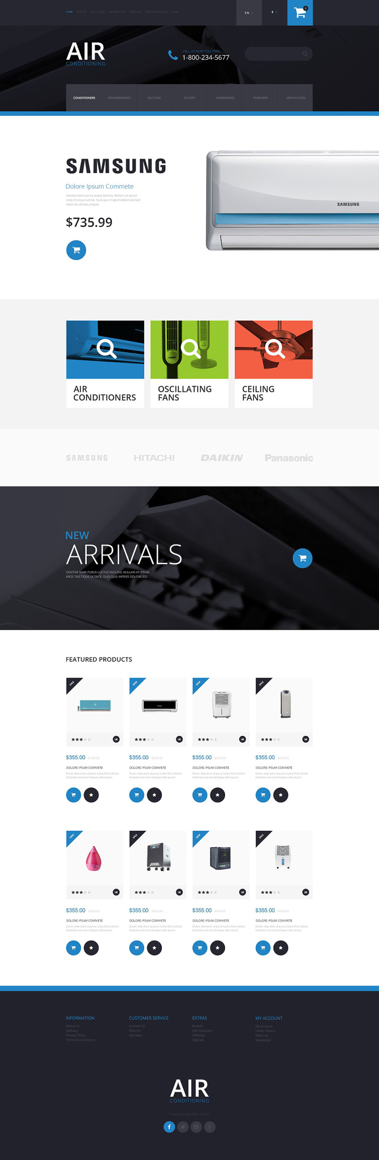 Air Conditioning OpenCart Template New Screenshots BIG