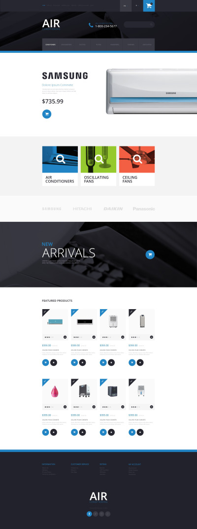 Air Conditioning OpenCart Template