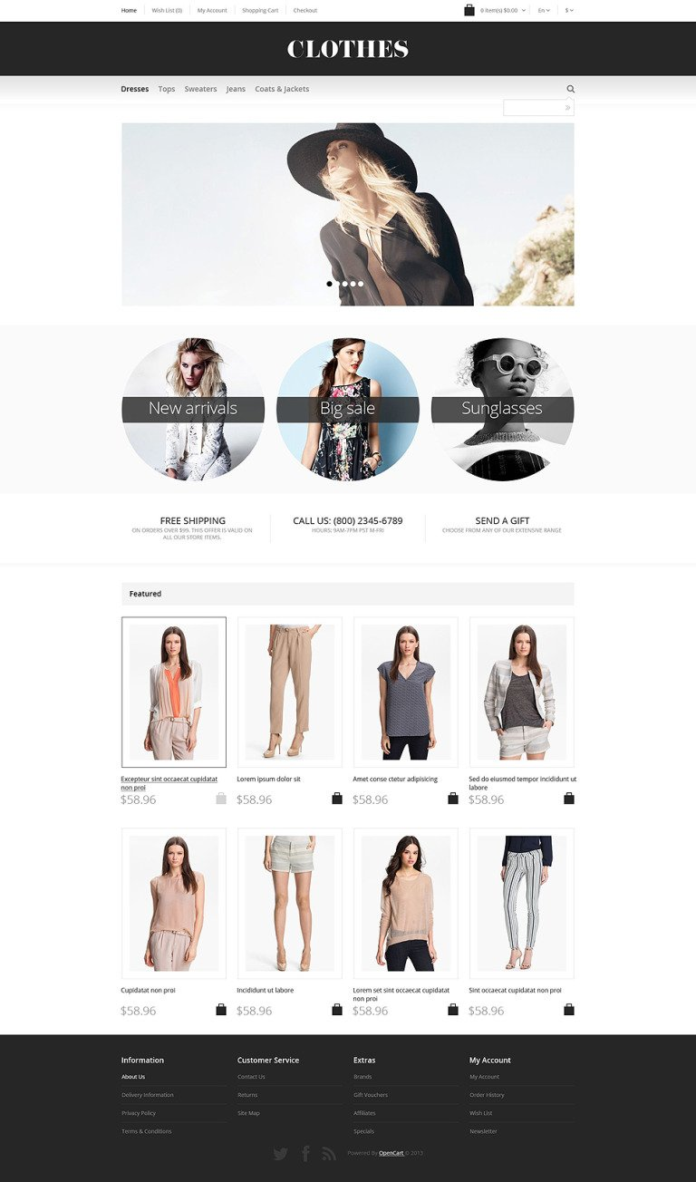 Apparel Responsive OpenCart Template New Screenshots BIG