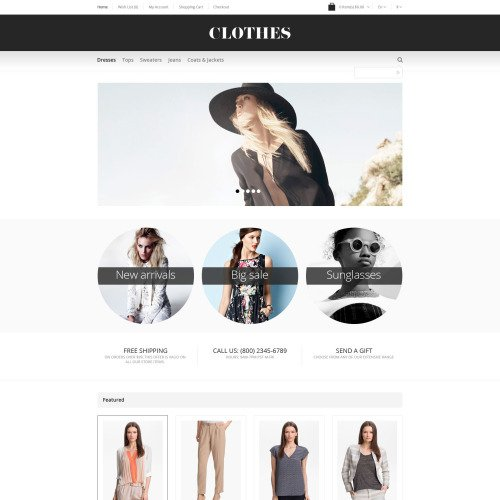 Clothes - OpenCart Template based on Bootstrap