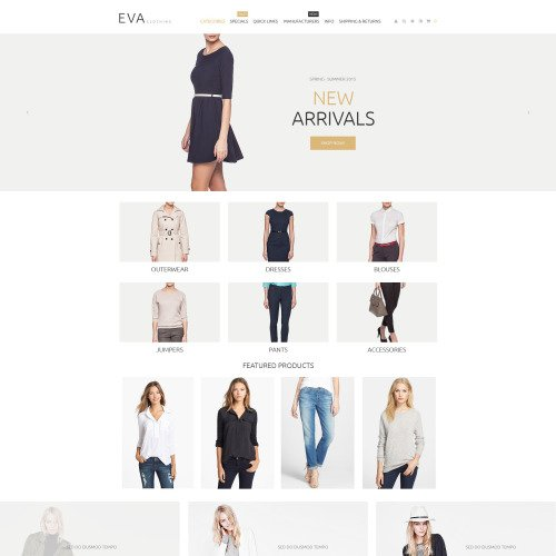 Eva - ZenCart Template based on Bootstrap