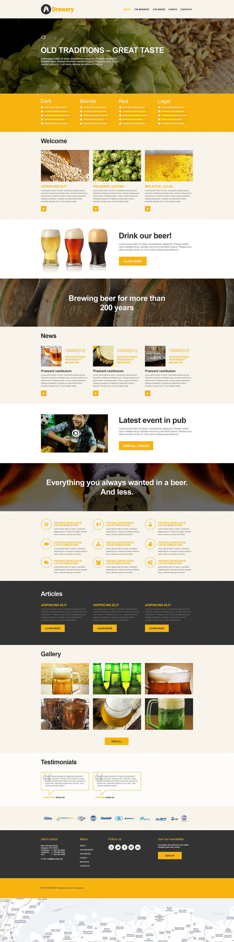 Brewery Muse Template New Screenshots BIG