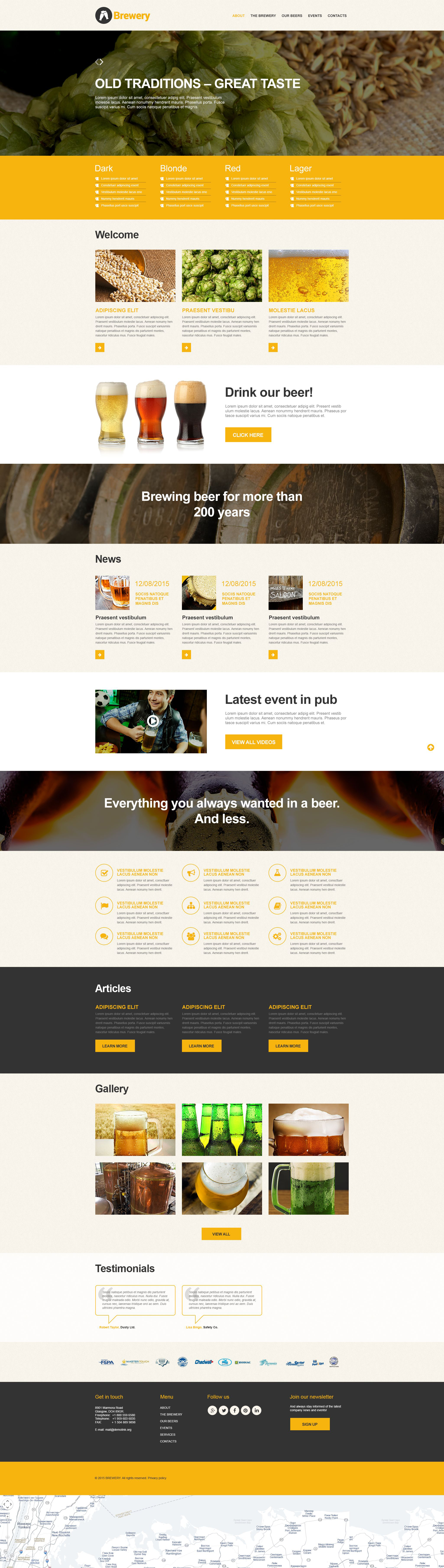 Brewery Muse Template