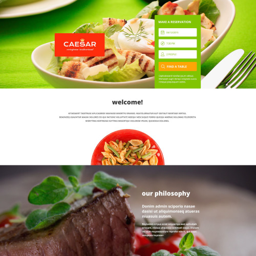 Caesar - Responsive Landing Page Template