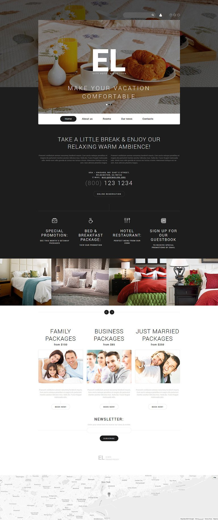 City Hotel Joomla Template New Screenshots BIG
