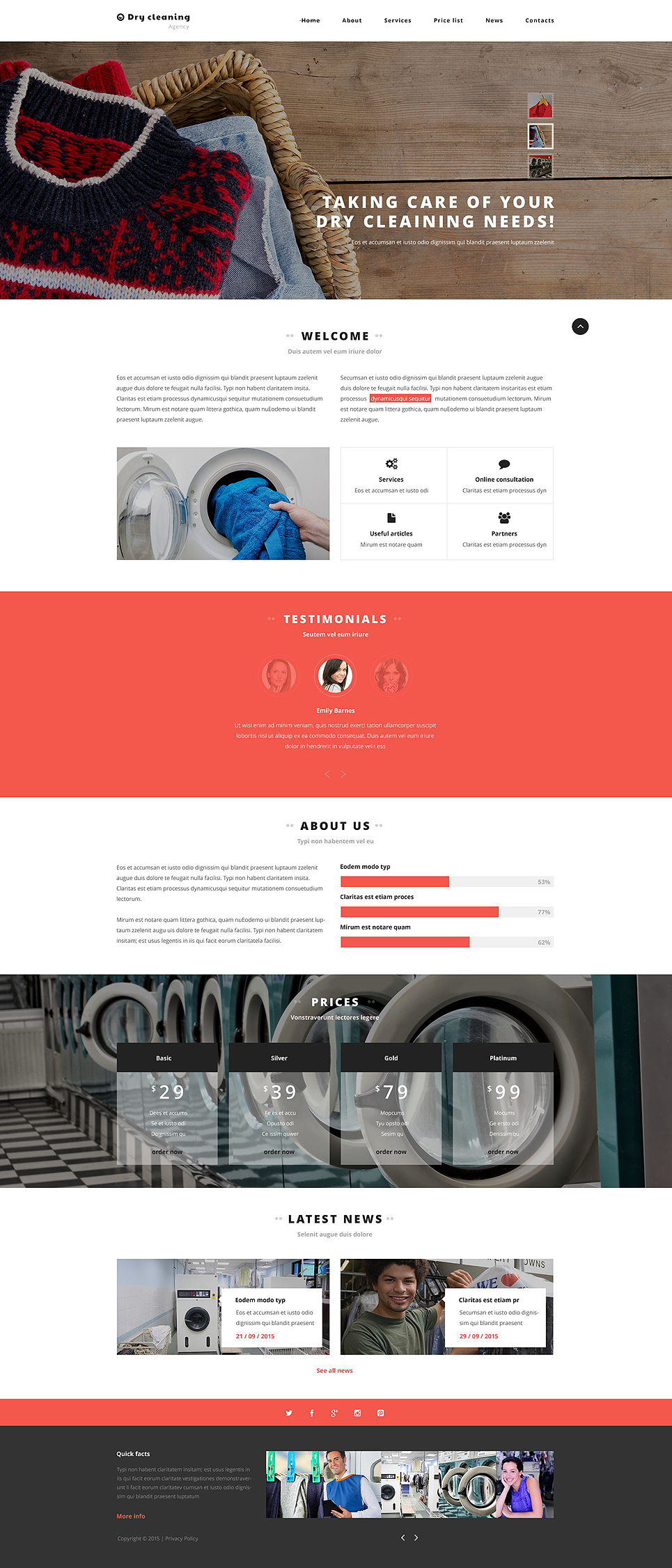 Dry Cleaner Web Template