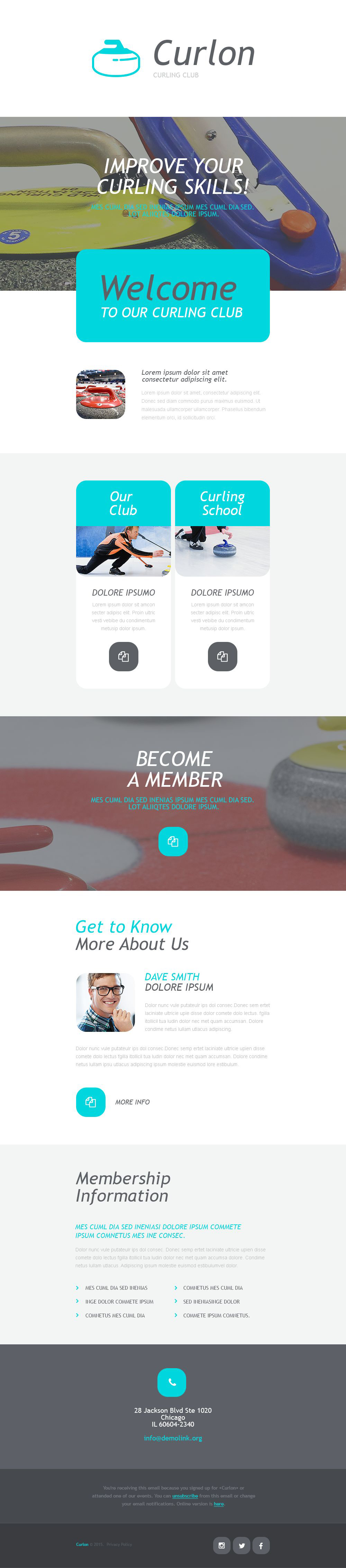 Curling Responsive Newsletter Template