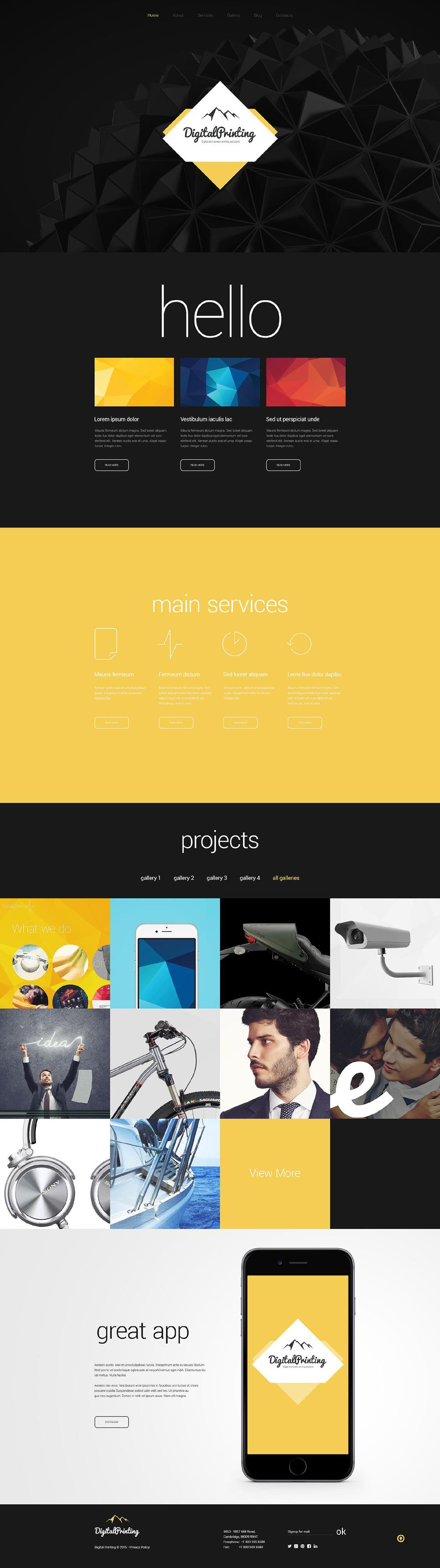 Digital Printing Website Template New Screenshots BIG