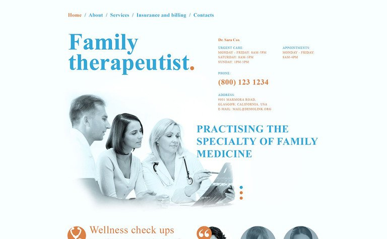 Doctor Responsive Website Template