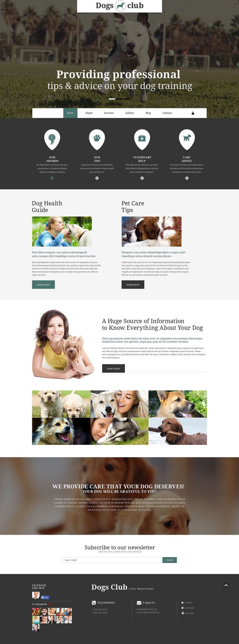 Dogs Club Joomla Template New Screenshots BIG