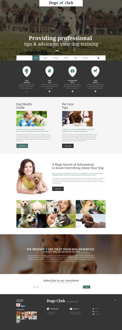 Dogs Club Joomla Template #55099