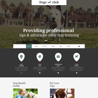 Dogs Club Joomla Template #55099