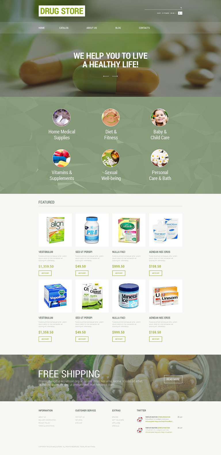 Drug Store Responsive VirtueMart Template New Screenshots BIG