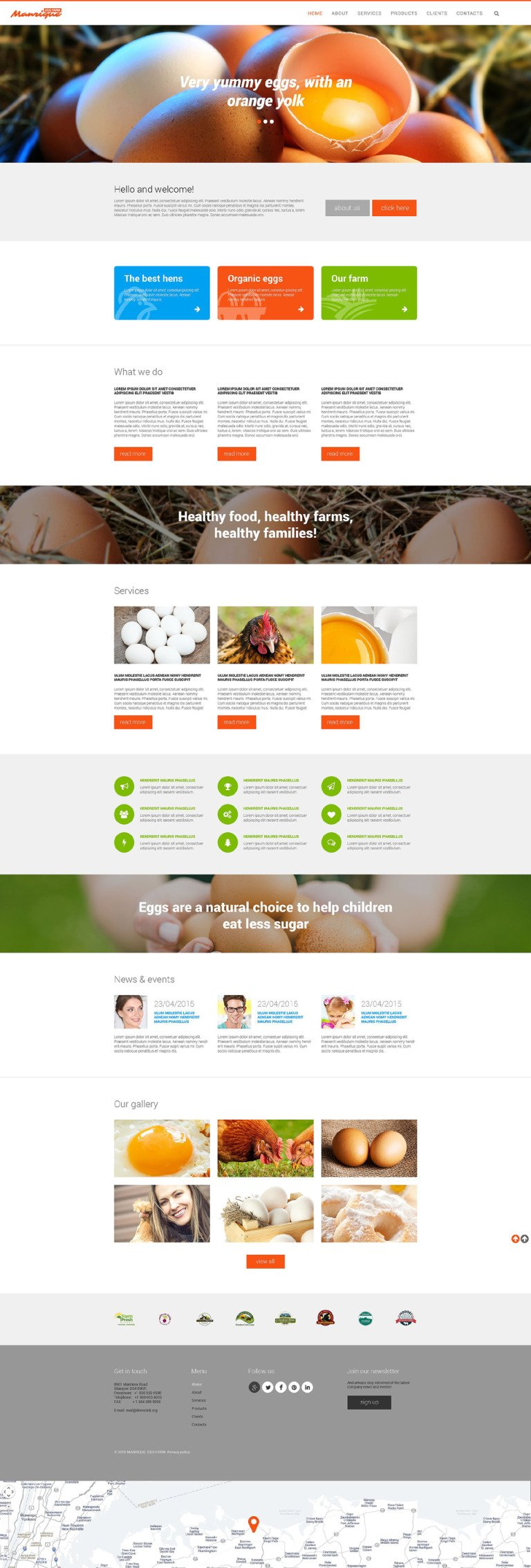 Egg Farm Website Template New Screenshots BIG