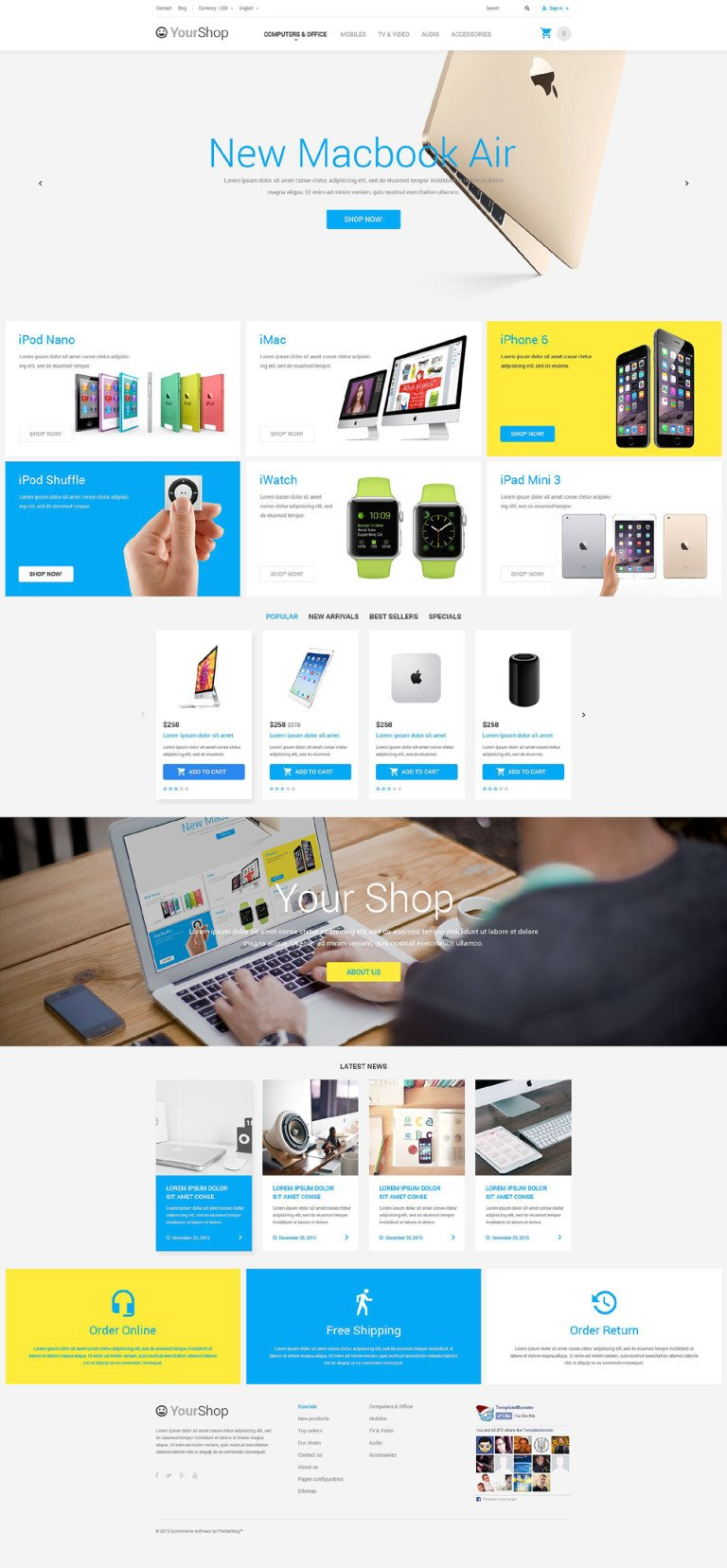 Electronics Store PrestaShop Theme New Screenshots BIG