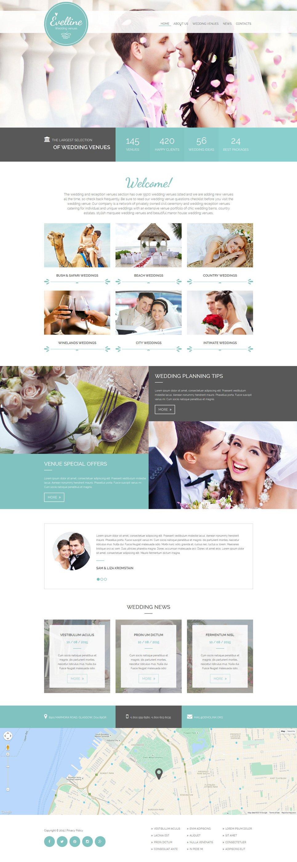 Wedding Venues Website Template