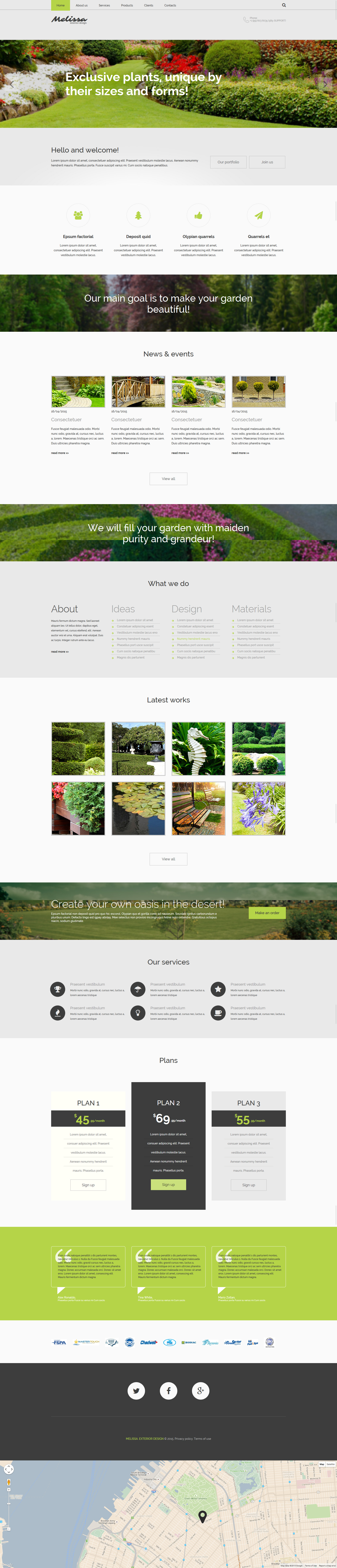 Exterior design responsive website template 55054 for Exterior design website templates