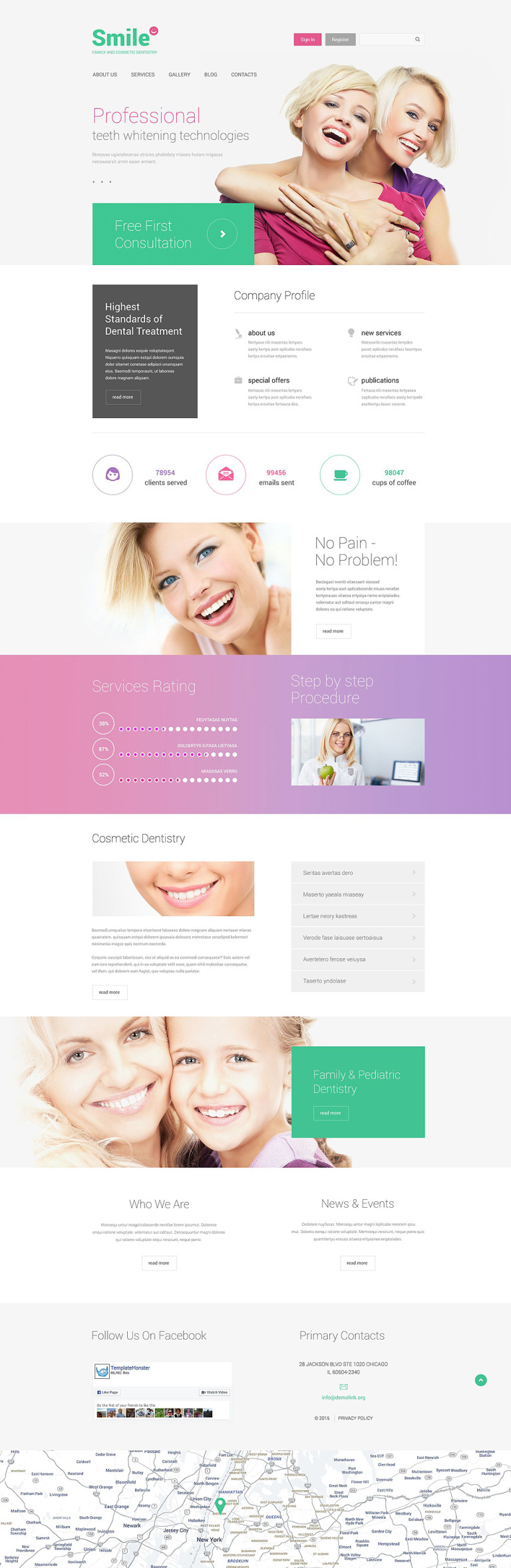 Family Dentistry Drupal Template New Screenshots BIG