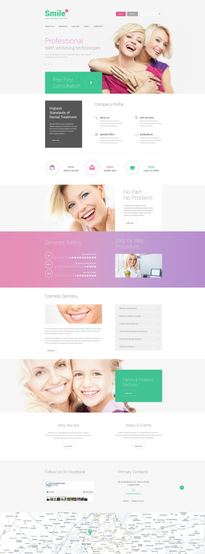 Family Dentistry Drupal Template #55090
