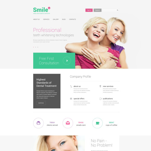Smile - Responsive Drupal Template